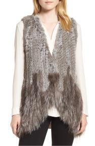 Genuine Rabbit & Fox Fur Vest