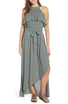 Misty Asymmetrical Dress Balsam Green