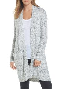 Mixed Stitch Long Cardigan